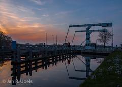 Vriezerbrug (Jan R.Ubels) Tags: brug bridge vries drenthe water sunset zonsondergang skies luchten olympus em5