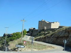 Highway turn-off into Rello, Spain (Paul McClure DC) Tags: españa architecture spain historic castile castillayleón rello june2014