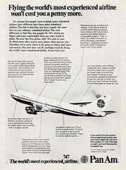 Vintage Airlines Ad (1973) (BudCat14/Ross) Tags: panam 1973 vintageads