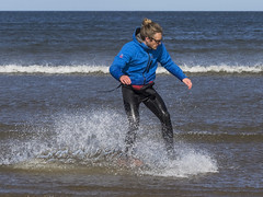 Skim Boarder 009 (KeithProvenArtist) Tags: sea beach sport scotland surf waves play fife standrews westsands skimboarder