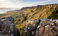 A Forgotten Land (RobGrahamPhotography) Tags: cliff mountain mountains rock canon landscape island scotland landscapes innerhebrides britain outdoor ridge crofts eveninglight eigg crag cleadale canon6d