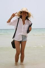2016-03-09 Phu Quoc Island, Vietnam019 (HAKANU) Tags: sea beach beautiful smile hat smiling lady female island sand asia shoreline beachlife vietnam phuong wife strawhat phuquoc phuquocisland wifeah
