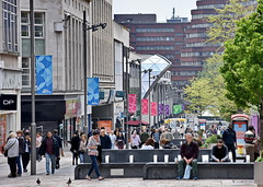 happy shoppers (Harry Halibut) Tags: city tree shopping south sheffield yorkshire centre pedestrian images seats benches zone shoppers allrightsreserved poeple precinct trafficfree themoor sheffieldbuildings colourbysoftwarelaziness imagesofsheffield sheffieldarchitecture 2016andrewpettigrew sheff1605292089