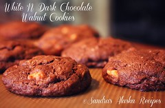 Sandra's Alaska Recipes: SANDRA'S WHITE 'N DARK CHOCOLATE WALNUT COOKIES recipe from scratch... (sandrasalaskarecipesphotographyretail) Tags: white cookies alaska dark dessert photo image chocolate walnut n pic recipes cocoa potluck bakesale sandras