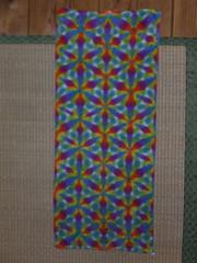 itajime  towel (asiadyer) Tags: japan japanese symmetry textile sacred tiedye dye dyeing psychedelic dyed shibori psychedelica sacredgeometry sarashi japanetsy shiboripsychedelic