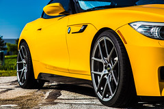 Z4 Spring 2016-3 (A guy called Steve) Tags: 6 black hardtop grass car yellow speed canon photography european photographer outdoor top hard stripe convertible automotive german bmw vehicle manual z4 19 lowered vmr 6speed jb4 6spd v803