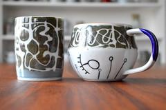 One 4 me & One 4 You (Mia Kunyo) Tags: glass coffee modern ceramics tea handmade drawing drinking cups easy porcelain tumbler
