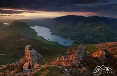Crummock Water from Red Pike (M J Turner Photography ) Tags: sunset england mountain lake landscape photography j evening view dusk hill lakedistrict m cumbria turner fell crummockwater buttermere loweswater redpike mjturnerphotography