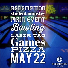 Reminder for our students! Join us tomorrow for our end of the year party at Main Event! This year has been a blast, and we want to celebrate all that has happened. We will get to bowl, play laser tag, eat pizza, play games, and reflect back as a group on (rcokc) Tags: our party get students that for this us back all play tag main year group first games bowl been we want pizza event eat reflect will join end laser reminder okc tomorrow celebrate has blast happened edmond schoolsout rsm redemptionstudents