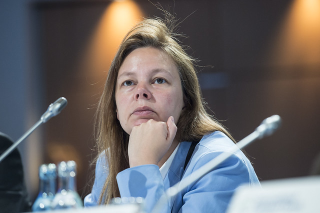 Valérie Verzele at Closed Ministerial Session
