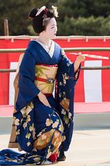 (byzanceblue) Tags: cute girl beauty japan japanese dance kyoto shrine traditional maiko geisha   kimono gion        gionhigashi tomitae