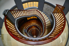 [Explore #71] up and down (Froschknig Photos) Tags: up und hamburg down fisheye treppe kontor speicherstadt 6000 treppenhaus 2016 hoch upanddown wendeltreppe fischauge kontorhaus runter messberghof a6000 hochundrunter a6k sel16f28 vclecf1 ilce6000
