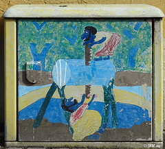 Stromkasten #5 (MacroManni) Tags: deutschland germany nrw rheinerftkreis bergheim stromksten powerboxes art grafitty
