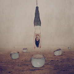 mirage (brookeshaden) Tags: selfportrait mirage compositing fineartphotography darkart conceptualphotography foggydesert brookeshaden