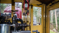 Puffing Billy Trip Melbourne VIC 02 May 2016 (51) (BaggieWeave) Tags: australia melbourne victoria steam vic steamengine steamtrain narrowgauge belgrave steamlocomotive puffingbilly locomotivecab