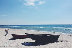 Bike beach boat (sofjet) Tags: summer bike skne sweden schweden sverige scandinavia scania ystad