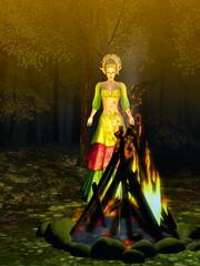 Midsummer Fire (gwen.enchanted) Tags: maitreya catwa bentbox analogdog hairfair2016 thesecretaffair soul ieqed heart poetsheart studioskye frolic fetch