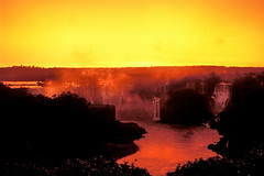 Iguazu Falls Sunset, Brazil / Argentina (True Colours) (globetrekimages) Tags: sunset brazil color colour argentina brasil landscape waterfall falls iguazu