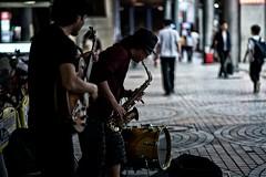 take five (sinkdd) Tags: nikon afsnikkor85mmf18g nikond800 nikkor 85mm f18g tokyo japan shinjuku street streetsnap streetphotography streetperformance sax guiter dram jazz combo jazzcombo trio