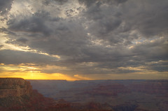 DSC_0010-12 yavapai point sunset hdr 850 (guine) Tags: grandcanyon grandcanyonnationalpark canyon rocks sunset clouds hdr qtpfsgui luminance