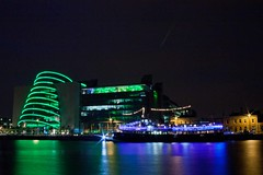 National Convention Centre, Dublin. (elevationair ) Tags: ireland dublin stpatricksday conventioncentre stpatricksfestival dublincity greeningthecity theconventioncentre mvcillairne thenationalconventioncentre