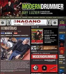Revista Modern Drummer - Darcy Marolla