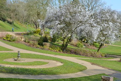 Spring and sundial at Miller Park, Preston (Tony Worrall Foto) Tags: park county new uk trees england nature beauty season spring nice stream tour open place natural northwest blossom country north visit location lancashire sundial area preston northern update grown attraction lancs avenhampark welovethenorth 2015tonyworrall springinprestongrass