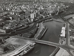 Melbourne in the late 1930s. Aerial view looking North East from South Melbourne (State Library Victoria Collections) Tags: 1936 1930s australia melbourne victoria vic cbd 1939 statelibraryofvictoria statelibraryvictoria
