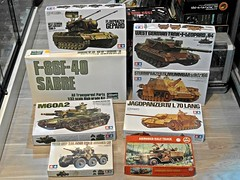 Todays Arrivals  Nostalgic Military Plastic Kits (My Toy Museum) Tags: track victory plastic sabre leopard half nostalgic kit cherokee arrival tamiya today lang arrivals saladin gepard brummbar