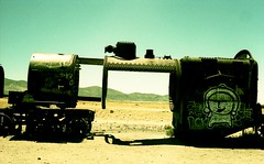 TRAINS GRAVEYARD (VERY GIORGIOUS) Tags: abandoned latinamerica southamerica canon lomo xpro crossprocessed desert bolivia saltflats uyuni trainsgraveyard