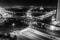 B&W Shot of Interchange 1, Dubai (EHA73) Tags: leica bw white black night photography 1 dubai uae x interchange 113 typ