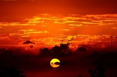 Sunset Kingston, Jamaica (E-C-K ART) Tags: sunset red orange sun hot island fire kingston jamaica fireball