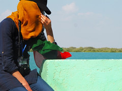 colour my life  Qeshm, Iran (mohn_nika) Tags: ocean sea colour girl canon iran qeshm mangrooves canonpowershotg11