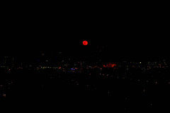 Red Moon (Deborah Hoag) Tags: city red moon night blood