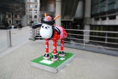 'Kanzashi' Shaun the Sheep (ec1jack) Tags: uk england london march spring europe britain trail cityoflondon lloydsbuilding nickpark 2015 shaunthesheep kanzashi kierankelly ec1jack canoneos600d shaunthesheeptrail