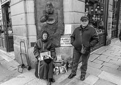 "Bologna - ""ti regalo un calendario"" (Dante Farricella - Studioieffe) Tags: street monk bologna begging povero frate questua"