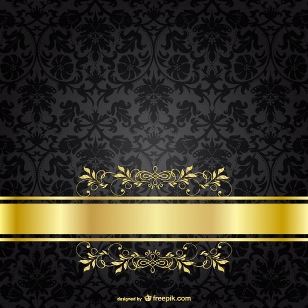 Dark Luxury Golden Template Free Vectors Eugenejoe414 Tags Wallpaper Black Flower Floral