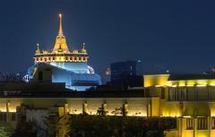 พระบรมบรรพต (ภูเขาทอง) Golden Mount  Bangkok Thailand.