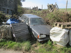 Parked up. (RUSTDREAMER.) Tags: cornwall subaru parked mazda scrap rustdreamer