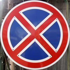 Circled no stop (sq#0366) (Navi-Gator) Tags: circle squaredcircle roadsign nosign