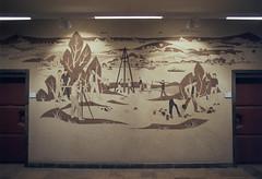 GDR surveying (farbstich.) Tags: film analog mural 28mm ddr socialist geography gdr realism greifswald realismus vermessung sozialistischer