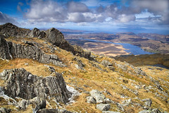 (OutdoorMonkey) Tags: nature rock rural landscape scotland countryside scenery scenic bluesky scene summit coastline rum muck lochshiel rugged ardnamurchan eigg moidart beinnresipol
