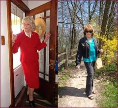 Before And After (Laurette Victoria) Tags: woman composite suit jeans milwaukee lakepark laurette
