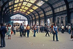 Piraeus, Greece, June 1976 (David Rostance) Tags: people greece railwaystation piraeus isap