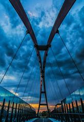 Bridge under the clouds (Agnolo) Tags: city bridge sunset sky architecture clouds nikon tramonto ponte bluehour nikkor architettura treviso citt veneto 1685 casalesulsile d7100