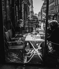 2016 Rome Italy (Stevenchen912) Tags: bw composition contrast blackwhite cafe geometry candid streetportrait streetscene streetphoto cinematic decisivemoment streetcandid