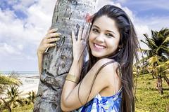 Pmela Danielly - Brazil (rqserra) Tags: brazil portrait people praia beach girl beautiful brasil ensaio model pessoa pretty chica retrato mulher modelo linda moa bonita belle garota sorriso fusion bela fille ragazza coqueiros flicka pige fuso rqserra