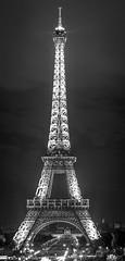 Eiffelturm (capoeirapaciencia) Tags: bw paris france night eiffelturm canon6d sigma50mm14