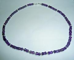 AmethystNecklaceB (merhawk) Tags: silver jewelry gift amethyst beading dogbone