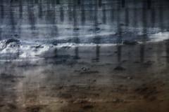 Broken Defences (cotswoldman) Tags: seascape abstract blur colour art beach water landscape seaside sand surf waves artistic impressionism posts impression impressionist icm intentionalcameramovement gloucestercameraclub